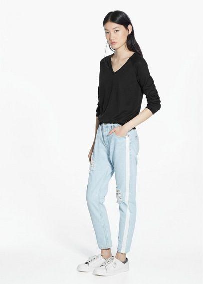 Camisola fina algodão | MANGO