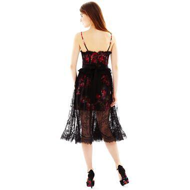 Pearl Georgina Chapman of Marchesa Lace Overlay Floral Dress ...