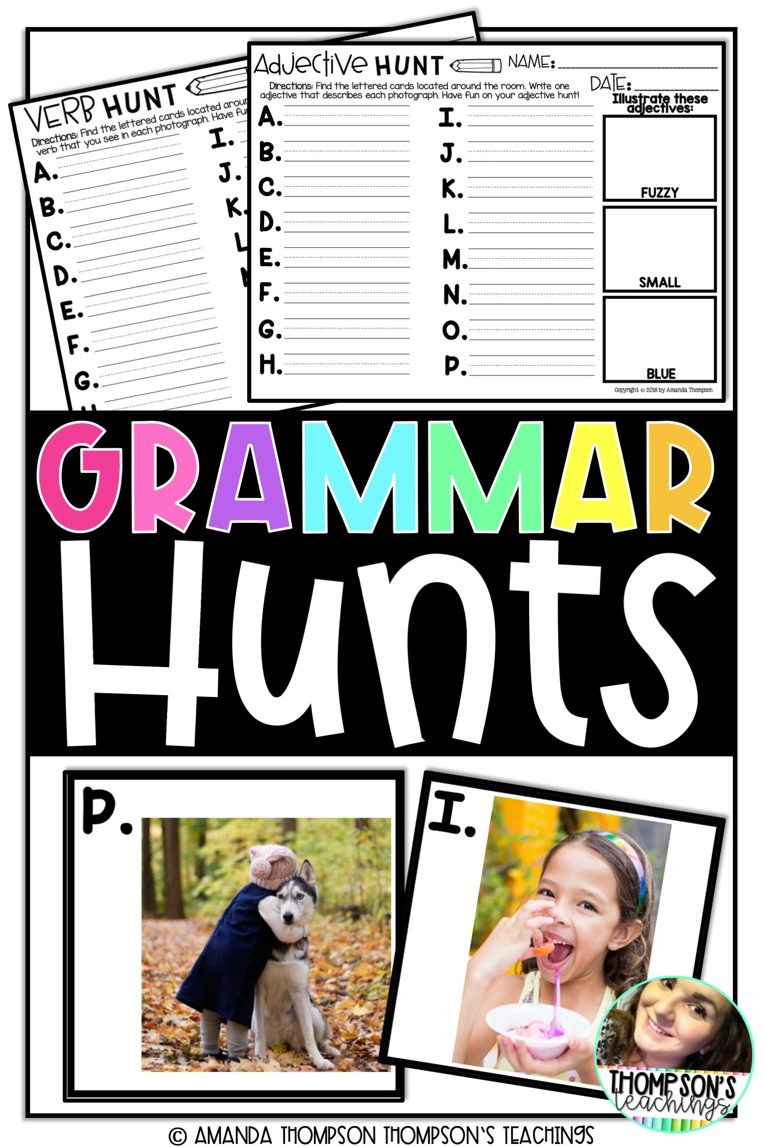 Grammar Scavenger Hunt For Students