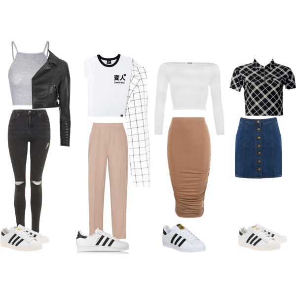 Outfit Ideas w/ Adidas Superstars by samsus on Polyvore featuring WearAll Illustrated People ...
