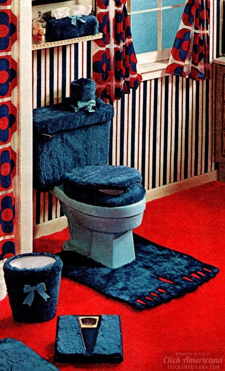 Check out these 10 fuzzy toilet covers from the '70s to