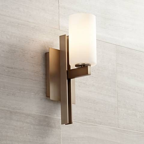 "Possini Euro Ludlow 14"" High Burnished Brass Wall Sconce  Wall Delectable Wall Sconces Bathroom Design Decoration"