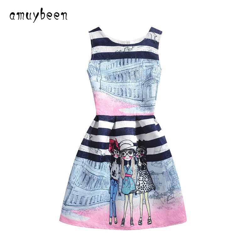 74819e008da Amuybeen 2017 Wedding Sundress Summer Dress For Girls Kids Clothes  Teenagers Baby Girl Flower Party Dresses For 9 10 12 Years 02