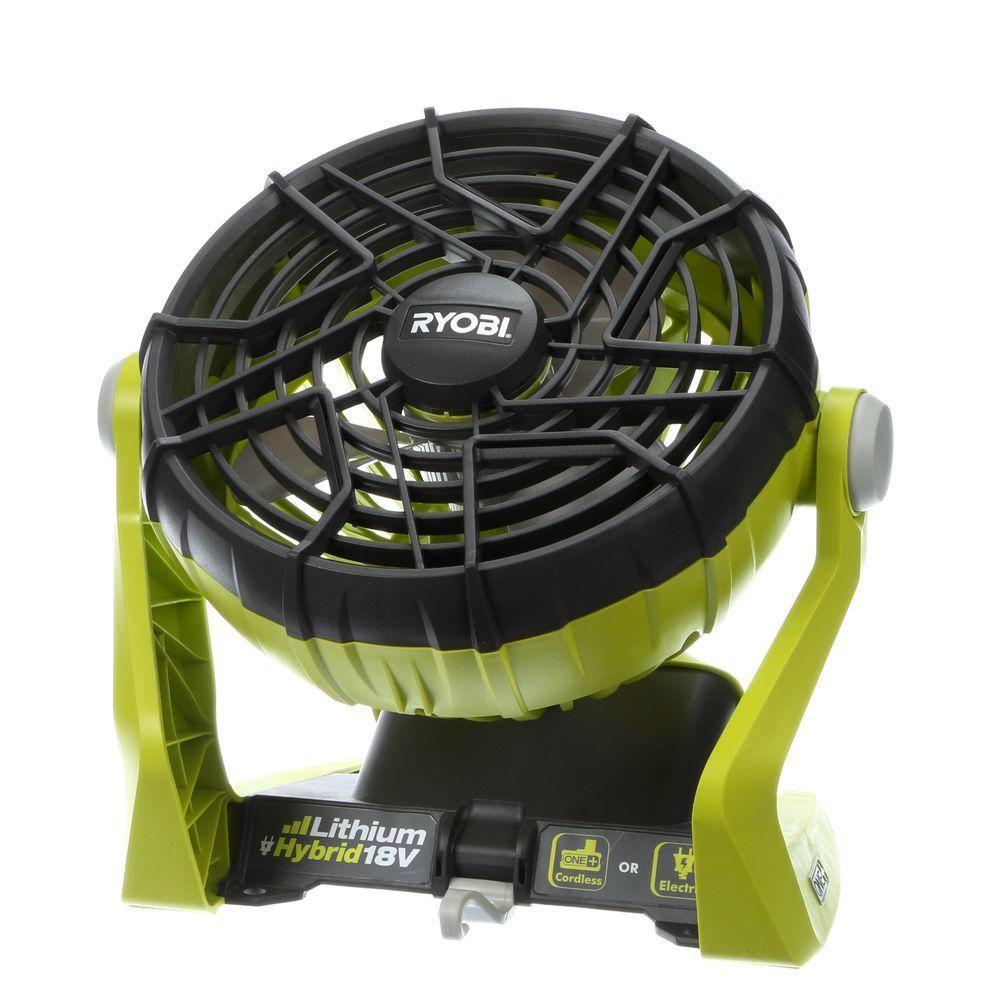 18v One Hybrid Portable Fan Tool Only Portable Fan Ryobi