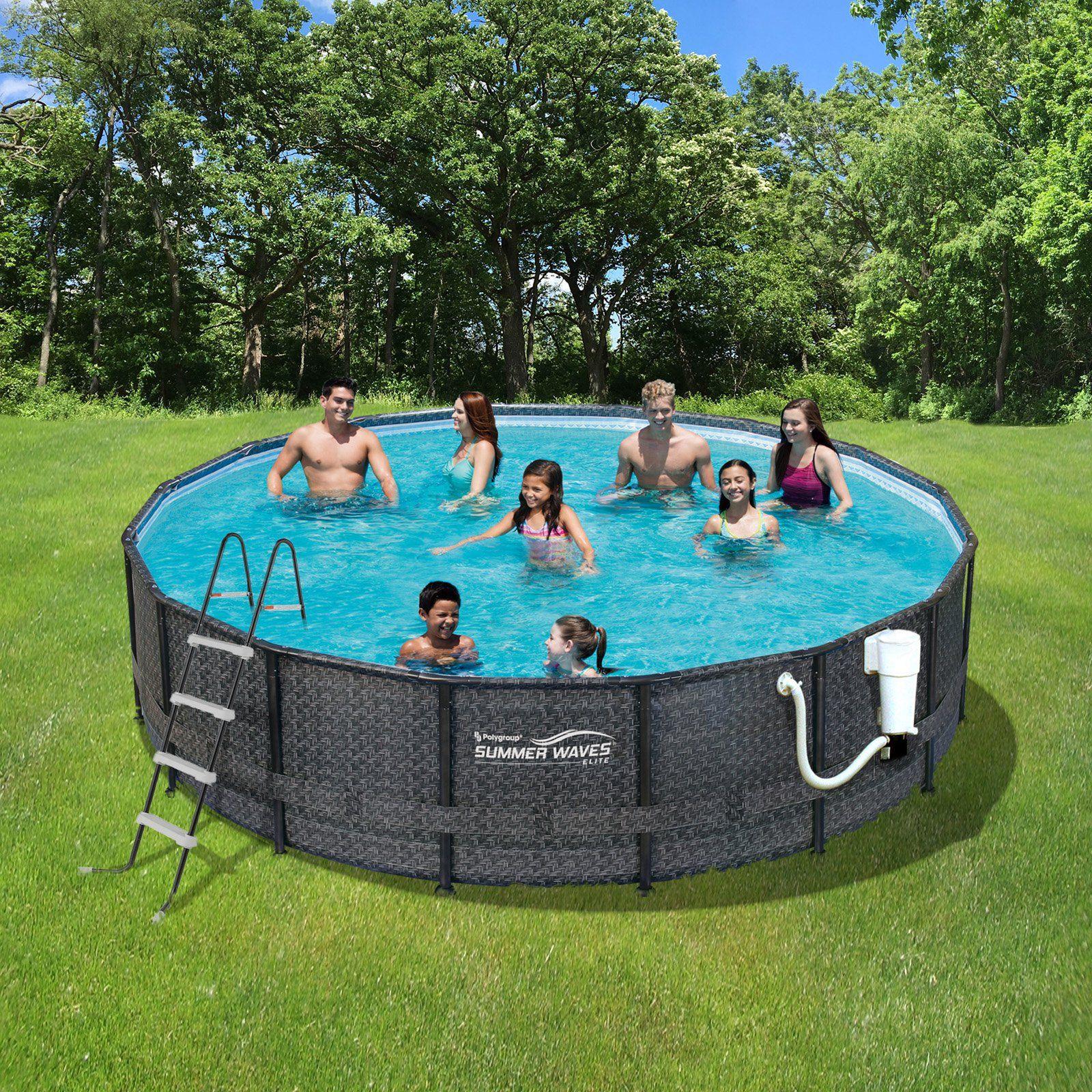 Summer Waves Elite Round Metal Frame Pool Package - NB2131 ...