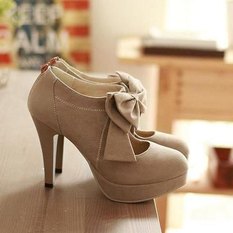 86c689c241d Chicloth Round Toe Back Zipper Bowtie Hollow Stiletto Heel Women s Boots