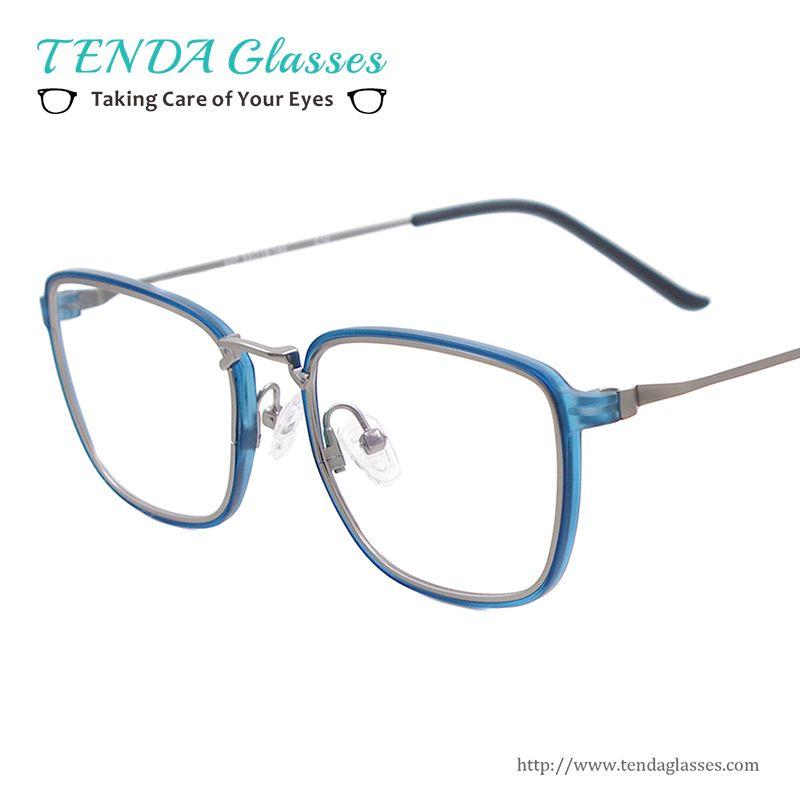 23e9cf3798 Lightweight Full Rim Square Eyewear Frames Plastic Metal Prescription  Glasses Frames For Multifocal Myopia Reading Lenses