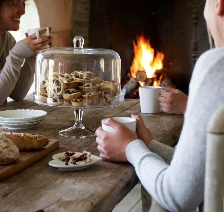 Want that cake stand to fill with mini pies for the holidays in front of a fire with hot chocolate or tea...