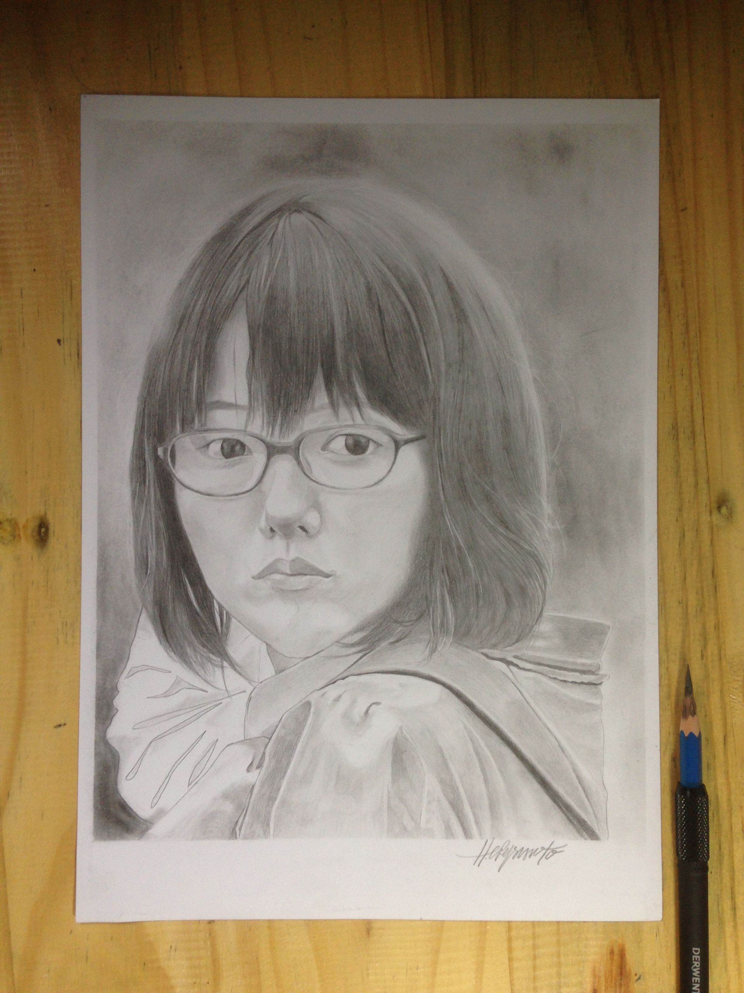 Aoimiyazaki artist sketch pencil drawing