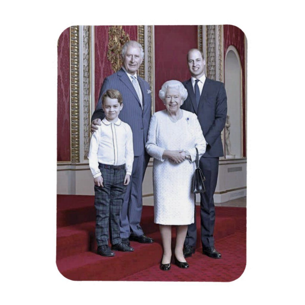 Queen Elizabeth Heirs Stylized Magnet Zazzle Com In 2021 Queen Elizabeth Queen Elizabeth Ii The Heirs