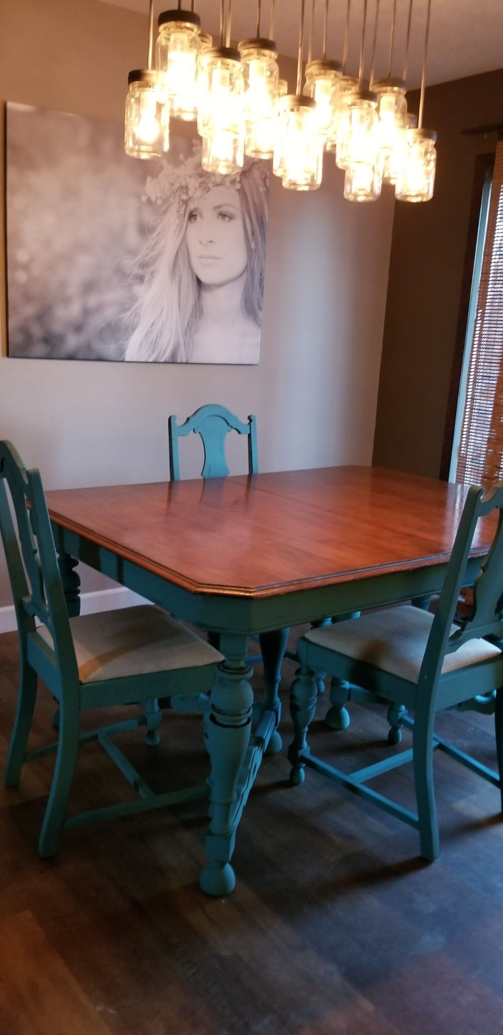 Diy Chalk Paint Blue Dining Room Table Chairs In 2019