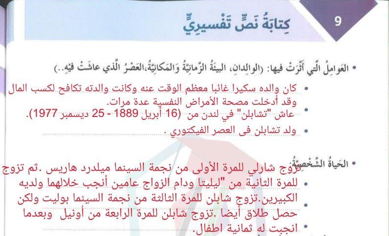 حل درس كتابة نص تفسيري لغة عربية الصف السادس الفصل الثالث School
