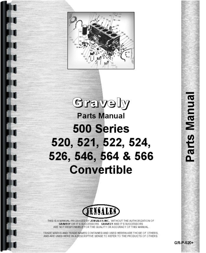 Gravely 520, 521, 522, 524, 526, 546, 564, 566 Convertible Walk