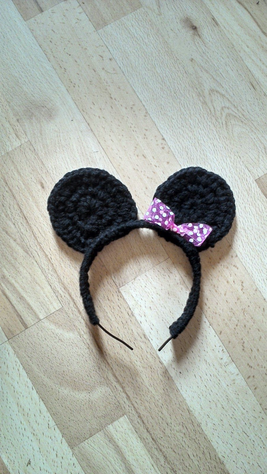 Bits & Bobbles : Cute Minnie Mouse Alice Band Free Pattern | Crochet ...