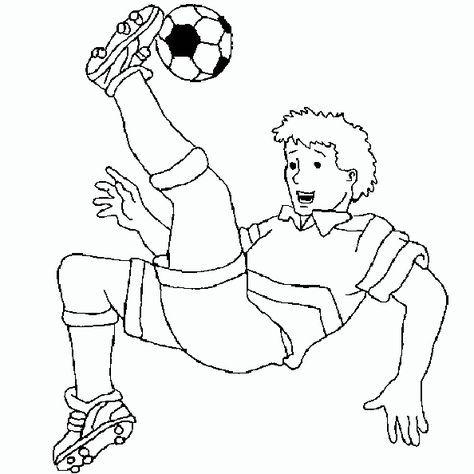 ausmalbilder kostenlos fußball spieler - ausmalbilder für kinder   ausmalbilder fussball