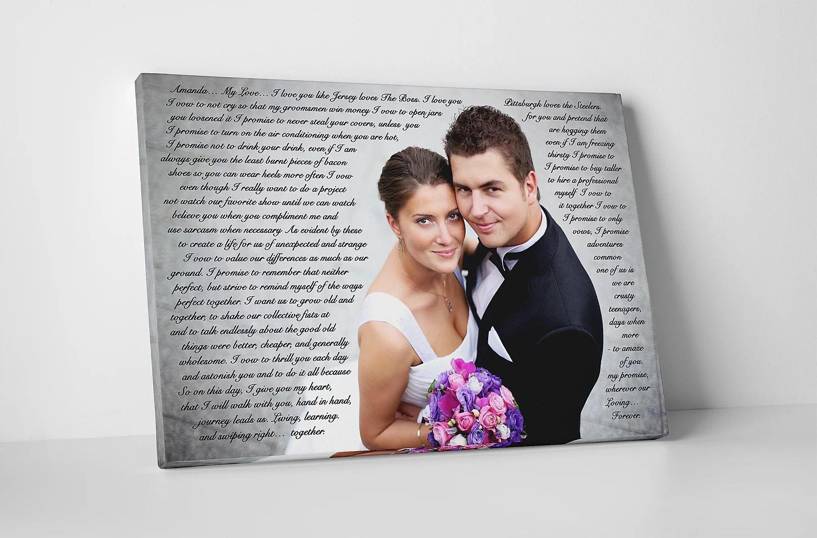 Custom Wedding First Dance Song Lyrics To Canvas website