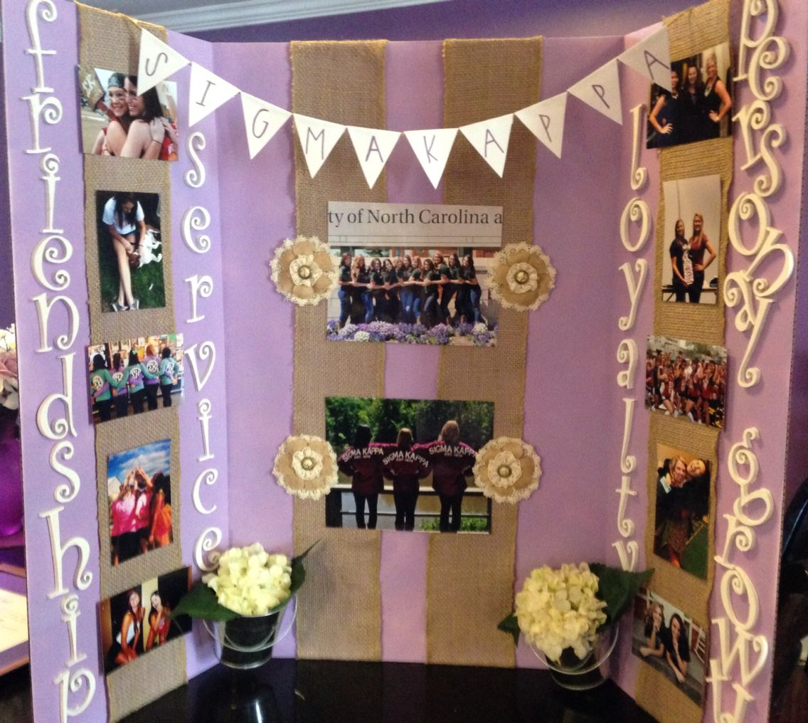 Sigma Kappa Recruitment Tri-fold Board!