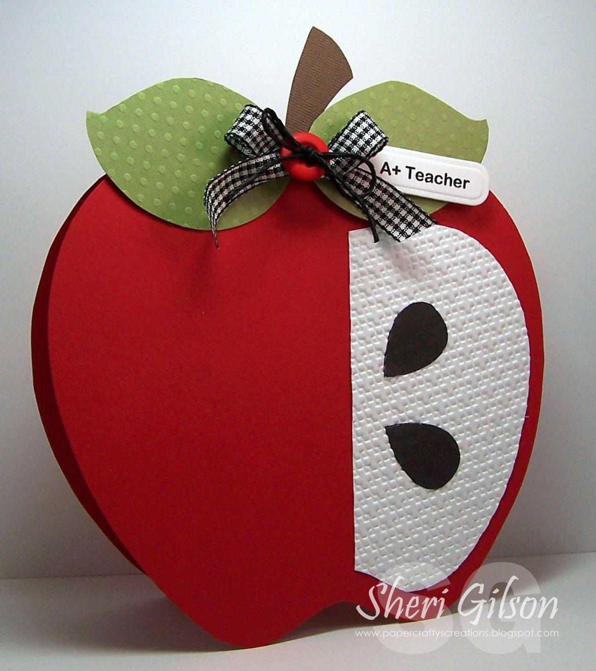 Объемные открытки яблоки, карандашом