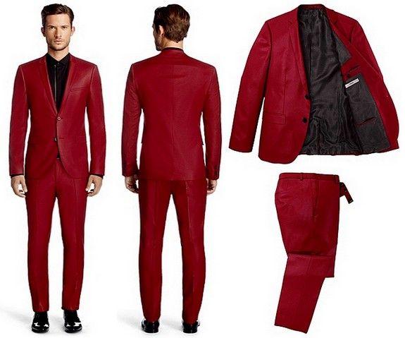 Costume rouge Hugo Boss