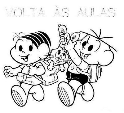 Desenhos Turma Da Monica Volta As Aulas Para Colorir Com Imagens
