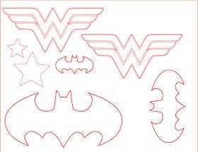 wonder woman // batman logos