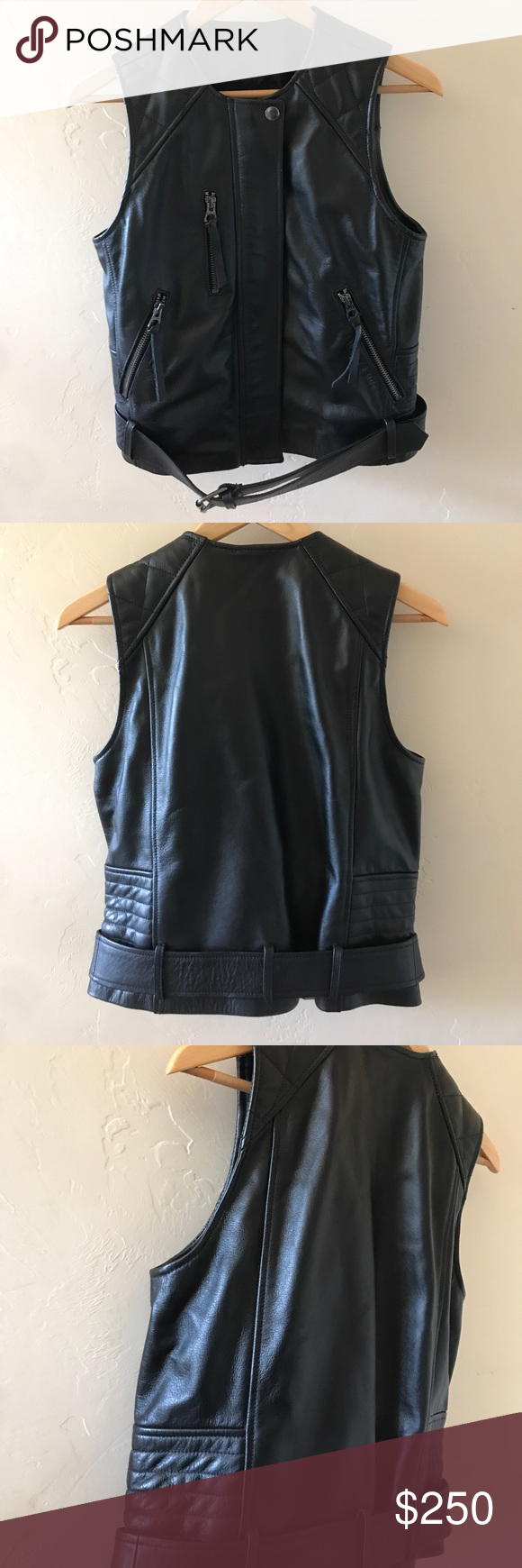 NWT Madewell Leather Ultimate Moto Vest NWT Madewell