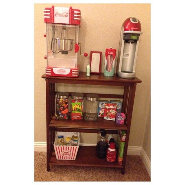 DIY Concession/Popcorn Machine Stand | Movie Rooms, Basements And Popcorn  Machines