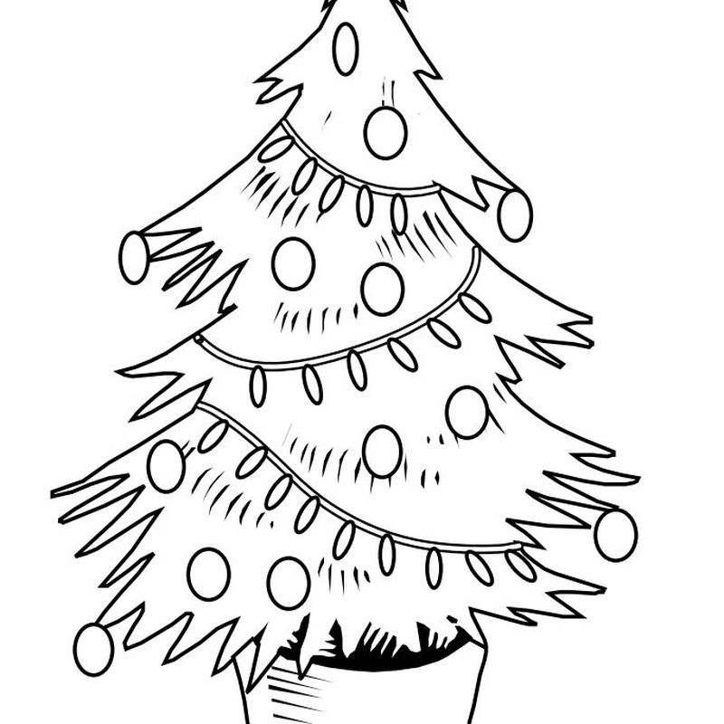 Tree Coloring Pages Ideas for Children | Christmas tree ...