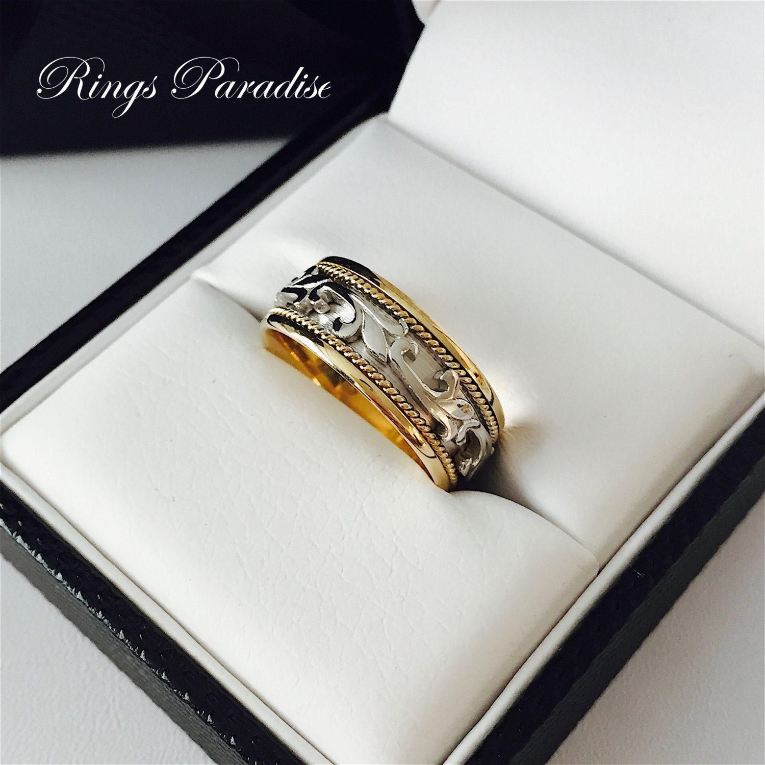 Wedding Band Celtic Knot Ring Men s Women Scottish Ring Unique