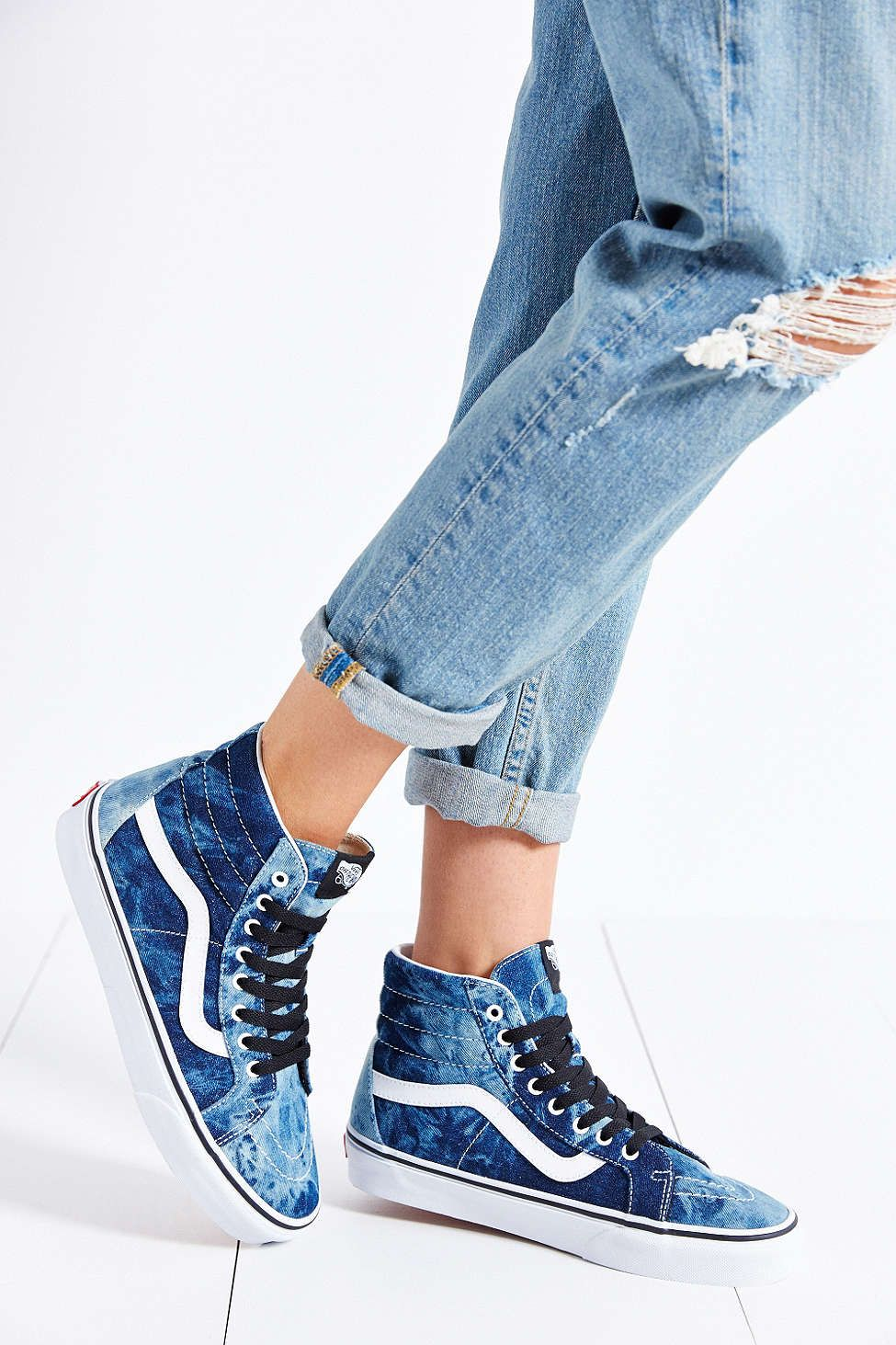 43f91327e3c Vans Sk8-Hi Denim Reissue Sneaker