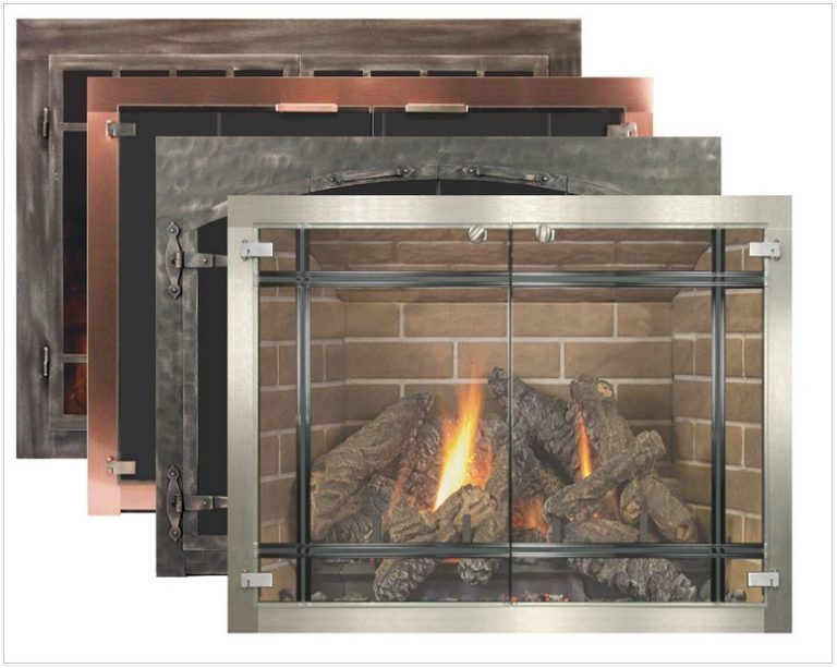 Glass Corner Fireplace Enclosures Fireplace Glass Doors Glass