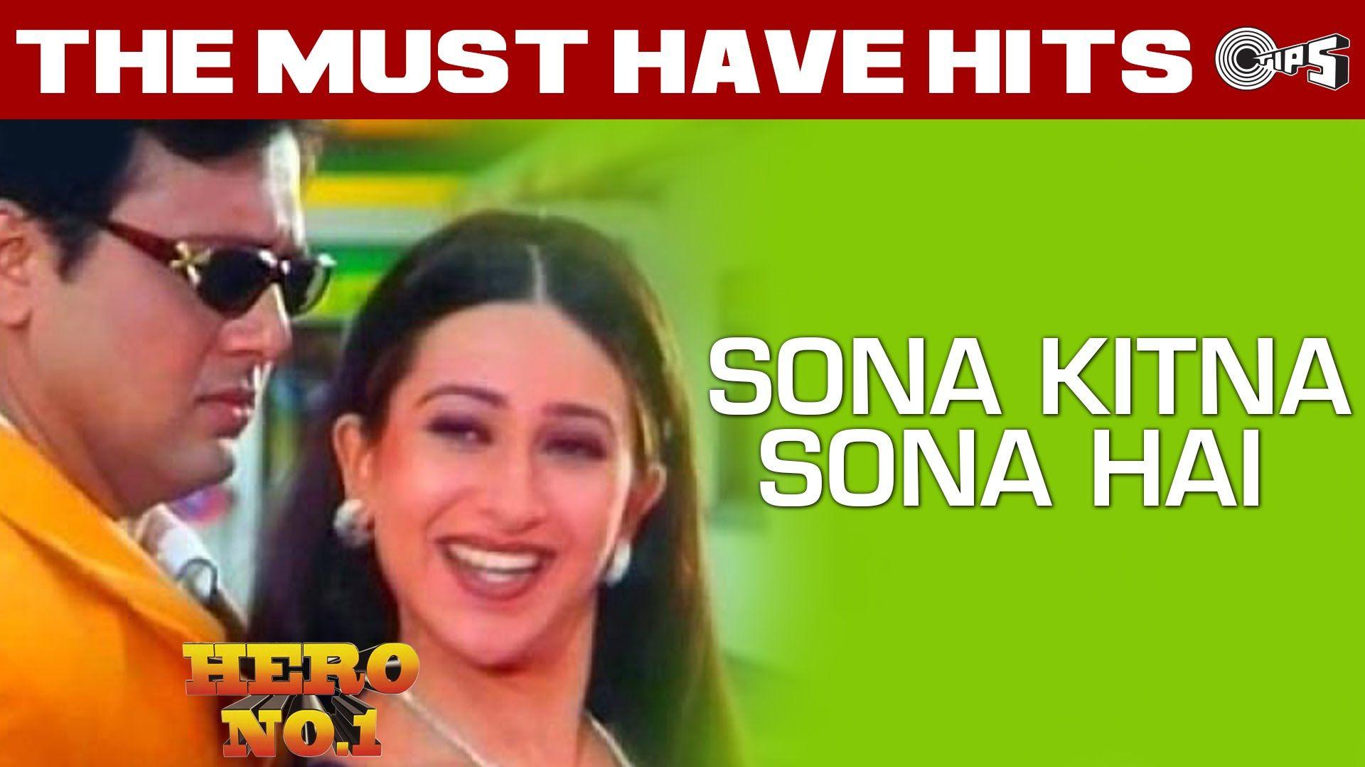 Sona Kitna Sona Hai Video Song Hero No 1 Govinda Karisma Kapoor Muzică Indiana