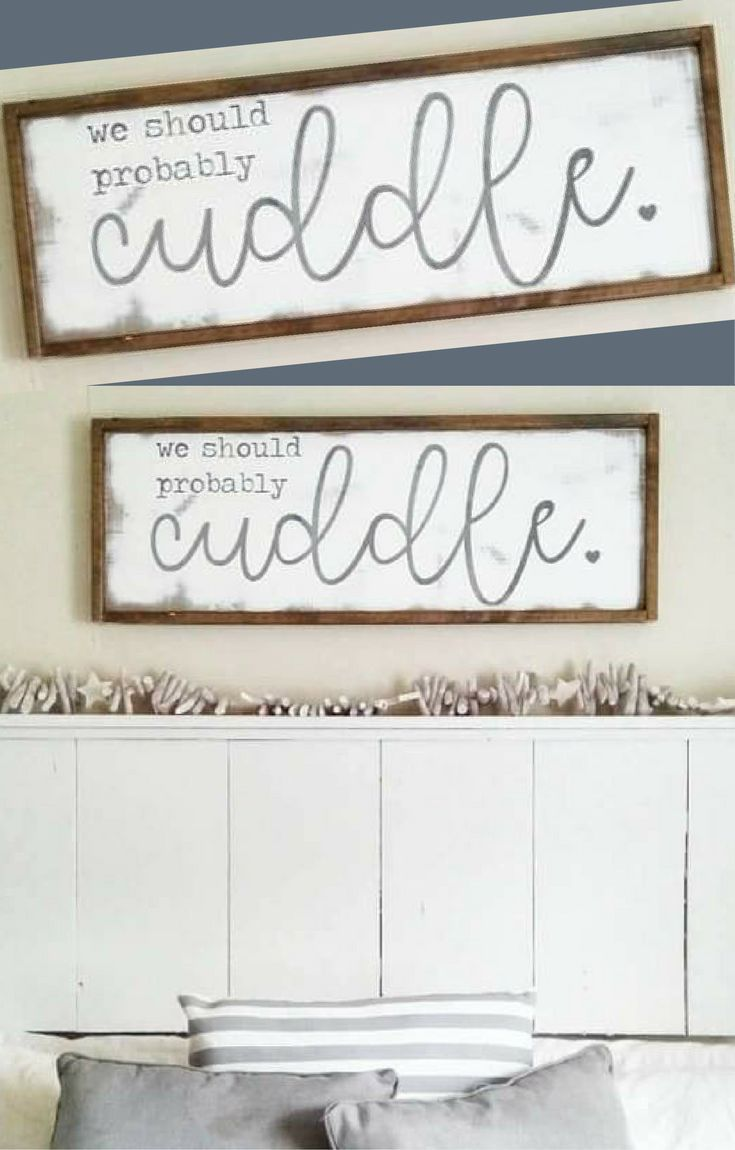 Cottage Home Newlywed Decor Inspirational Signs We Should Probably Cuddle Farmhouse Rustic Bedroom Wall Art Wedding Engagement Gift
