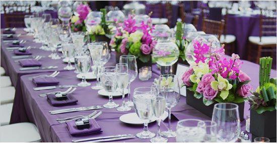 Tischdeko Hochzeit Lila Blumen Lila Hochzeitsdeko Inspiration Fotos