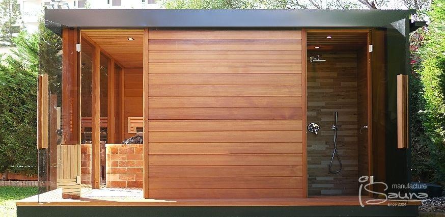 Design Aussensauna individual built lugano luxury house smart spa