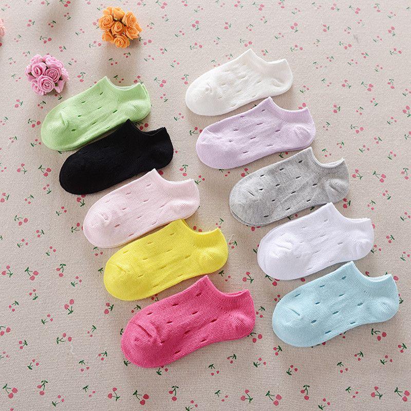0-2 T Del Color Del Caramelo Del Bebé Calcetines de Algodón Niños Niñas Casual Meias Calcetines de Primavera y Verano
