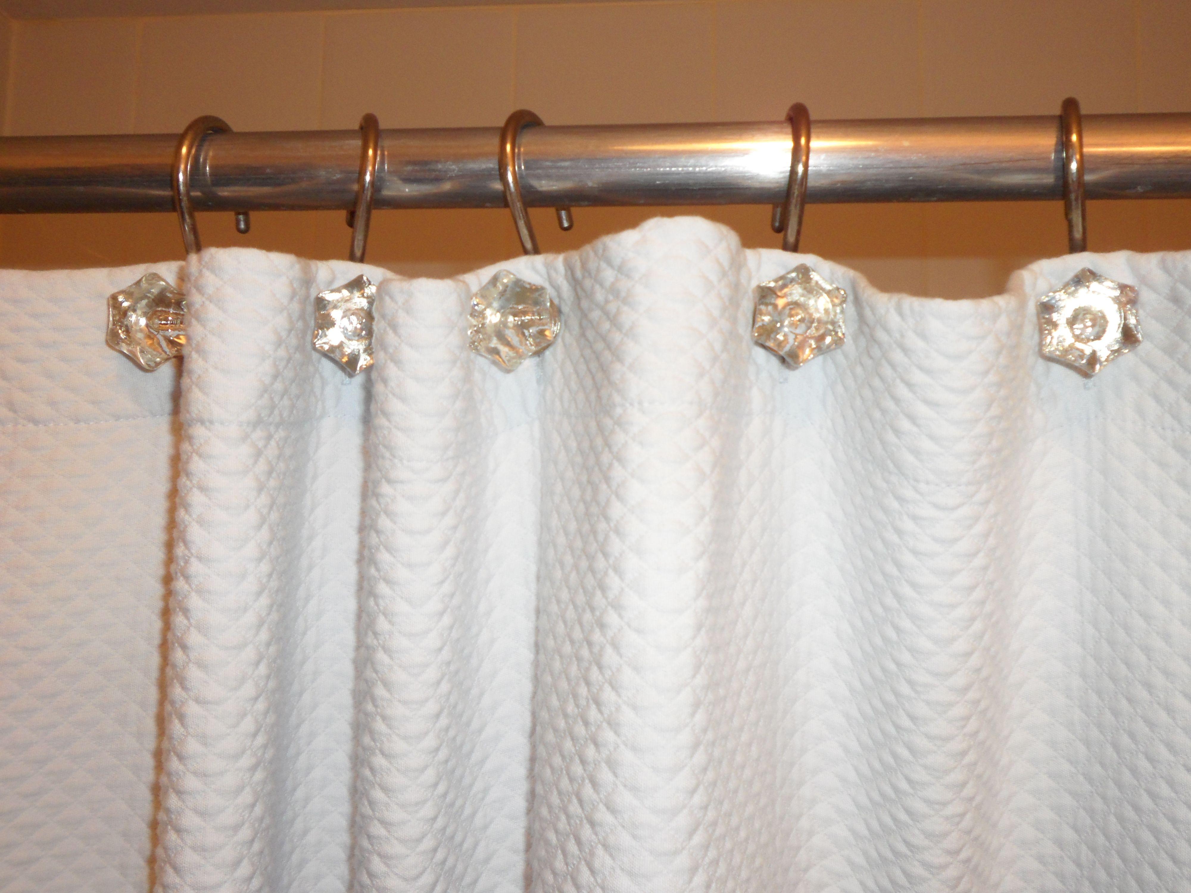 Diamond Shower Curtain Hooks restoration hardware Redo Pinterest ...