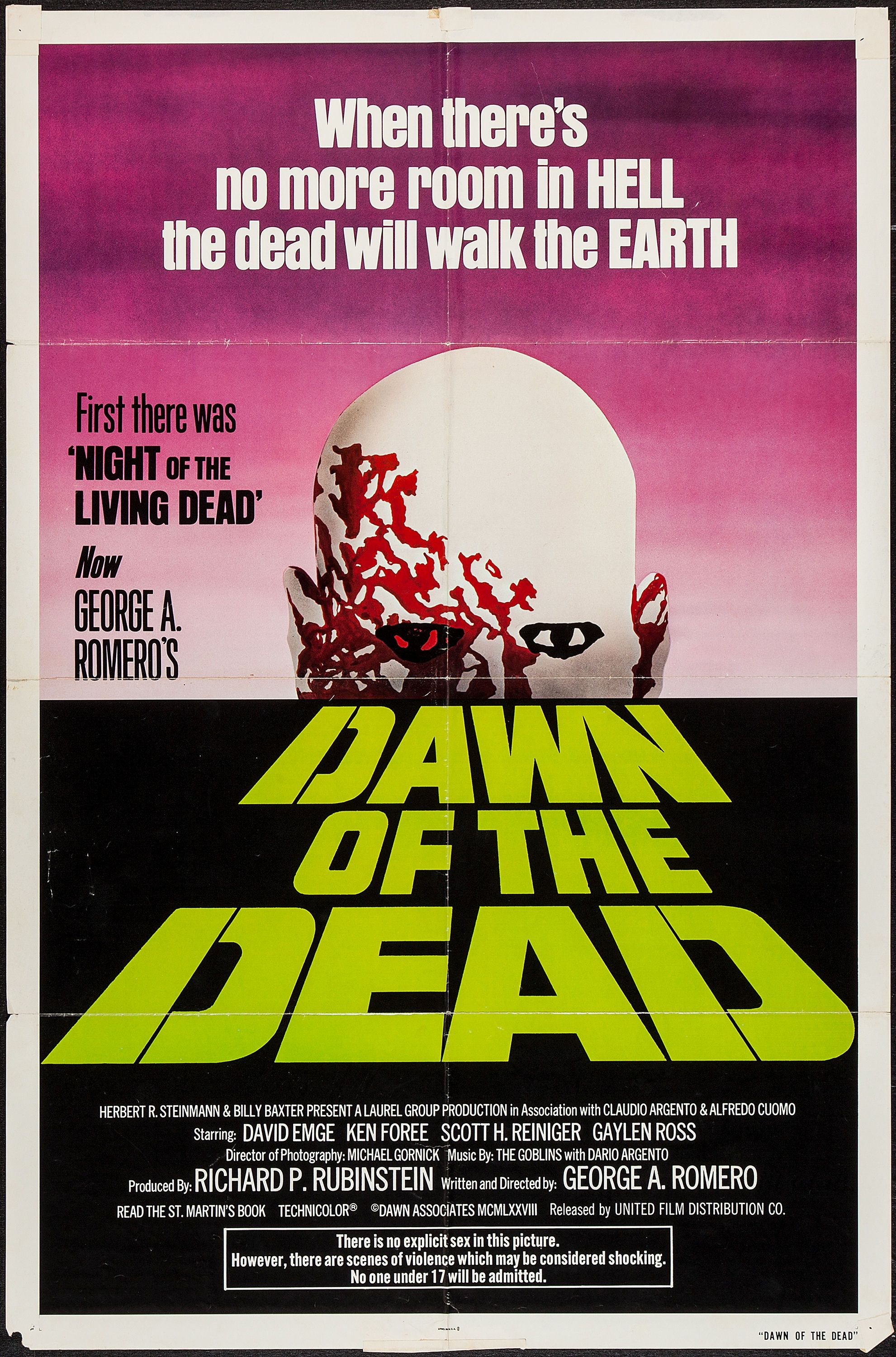 Dawn of the Dead, 1978 The dead movie, Zombie movies