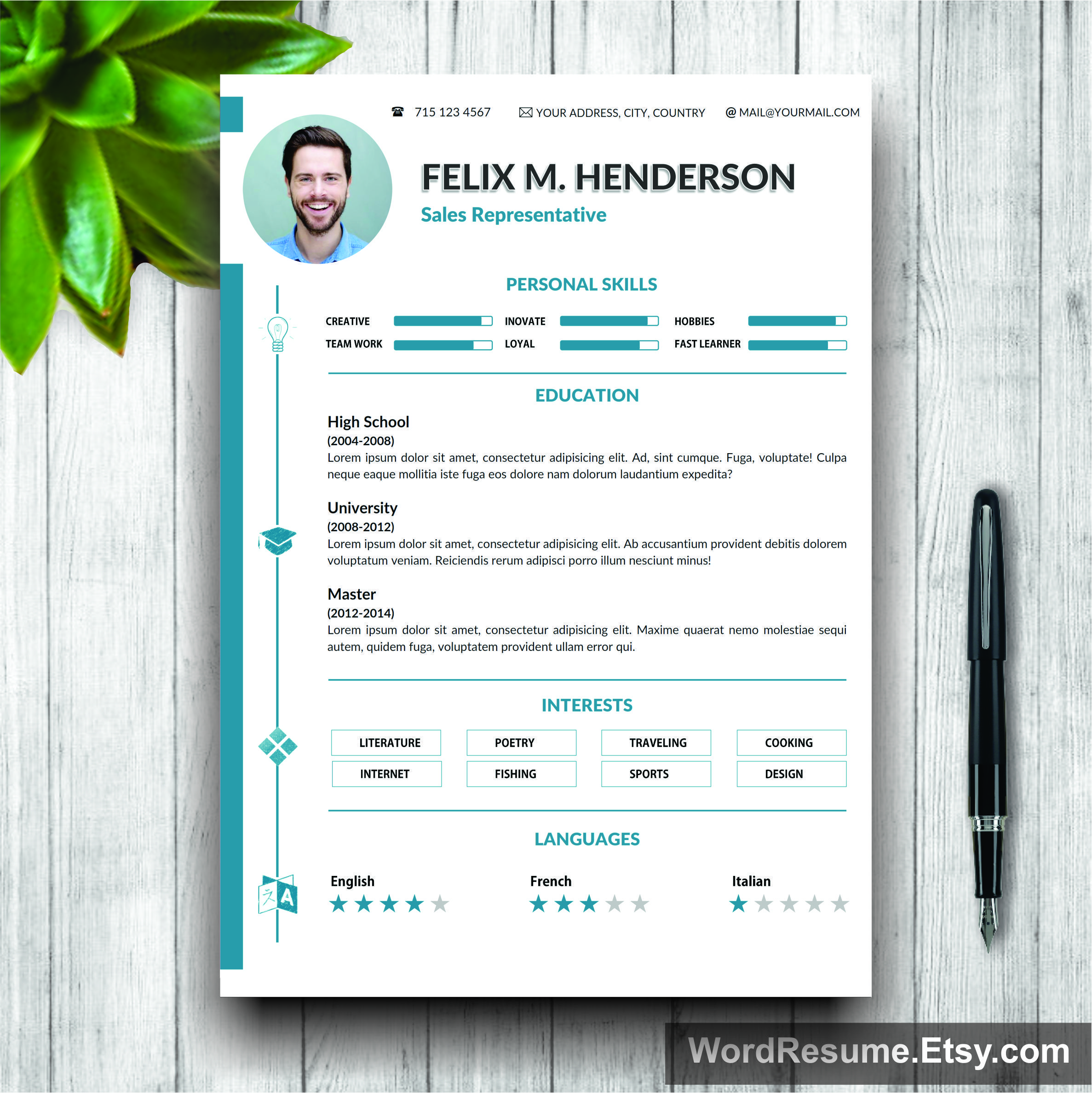 Resume template 2nd page resume resume templates pinterest resume template 2nd page resume yelopaper Choice Image