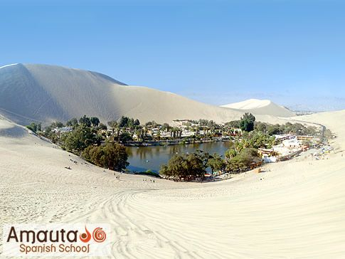 Laguna Huacachina, Ica; Peru. An oasis 5 hours south of Lima. Only ...