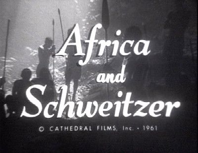 AFRICA AND SCHWEITZER (1961-30 min). Gospel Films Archive has uncovered a superb Cathedral Films documentary on Albert Schweitzer's Christian missionary work in Africa, filmed 4 years before his death in 65'. Narrated by Lowell Thomas & exquisitely photographed in the Belgian Congo by Sven Nykvist, Bergman's famed Oscar-winning director. Find out more about Gospel Films Archive:  http://igg.me/p/594165/x/5455779