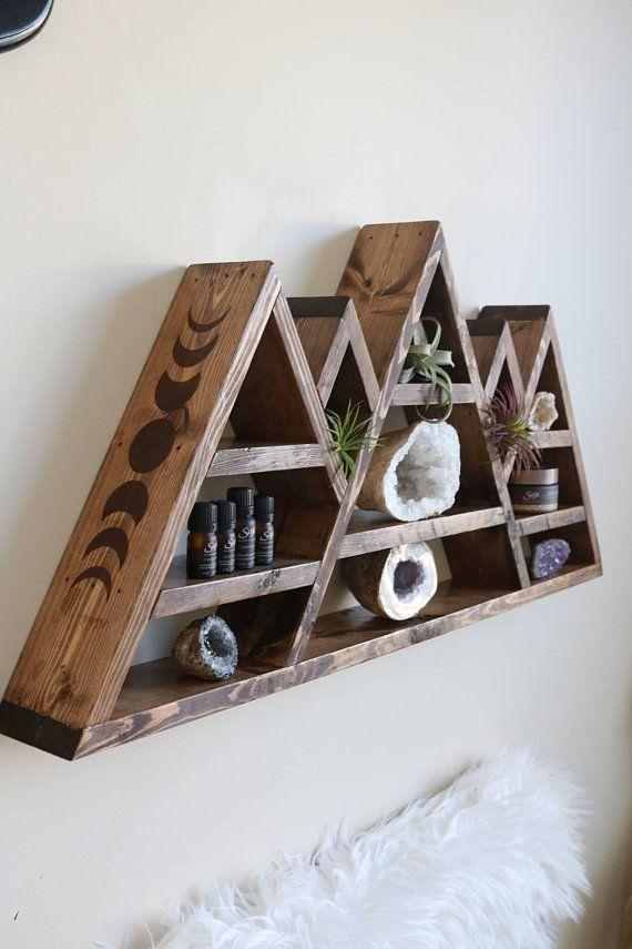 Honeycomb Shelves Set of 3 Honeycomb Wood Shelves   Etsy