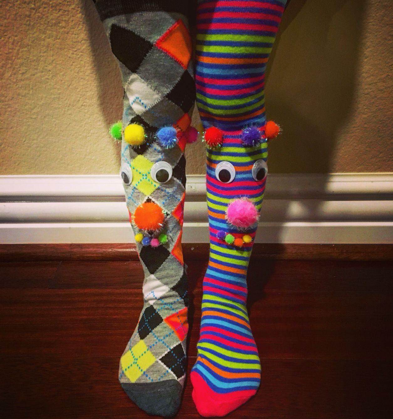 Crazy Sock Day Arts And Crafts Crazy Socks Wacky