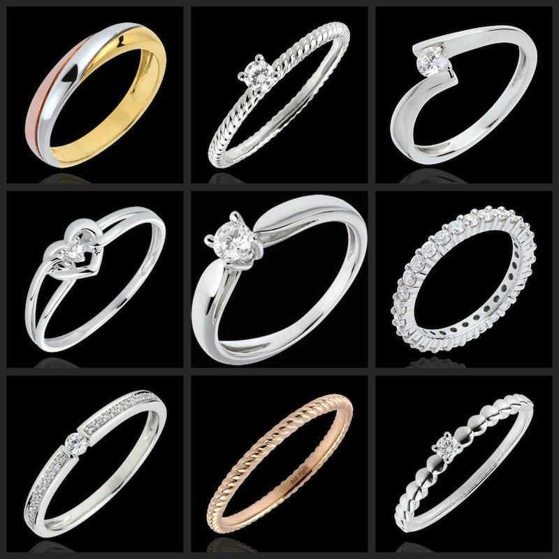 gioielli edenly, idee per gli anelli da matrimonio e fidanzamento in oro  bianco, diamanti
