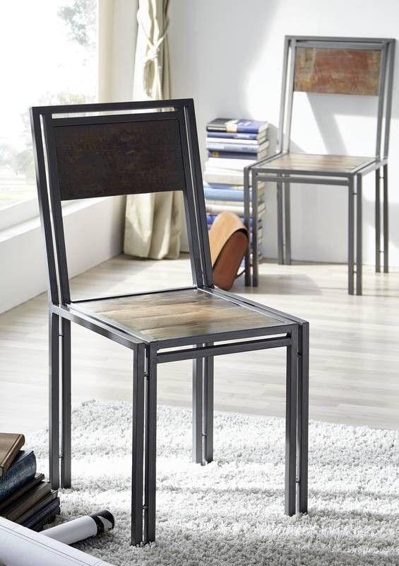 NEW YORK Stuhl #20 Indisches Altholz Lack. / Metall Jetzt Bestellen Unter:  Https://moebel.ladendirekt.de/kueche Und Esszimmer/stuehle Und Hocker/holzstuehle  ...