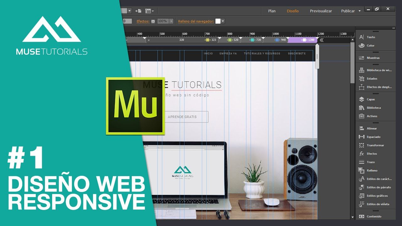 Diseño web responsive | Adobe Muse | Pinterest | Adobe muse