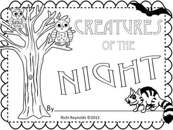 Creatures of the Night: Nocturnal Animals Read, Write