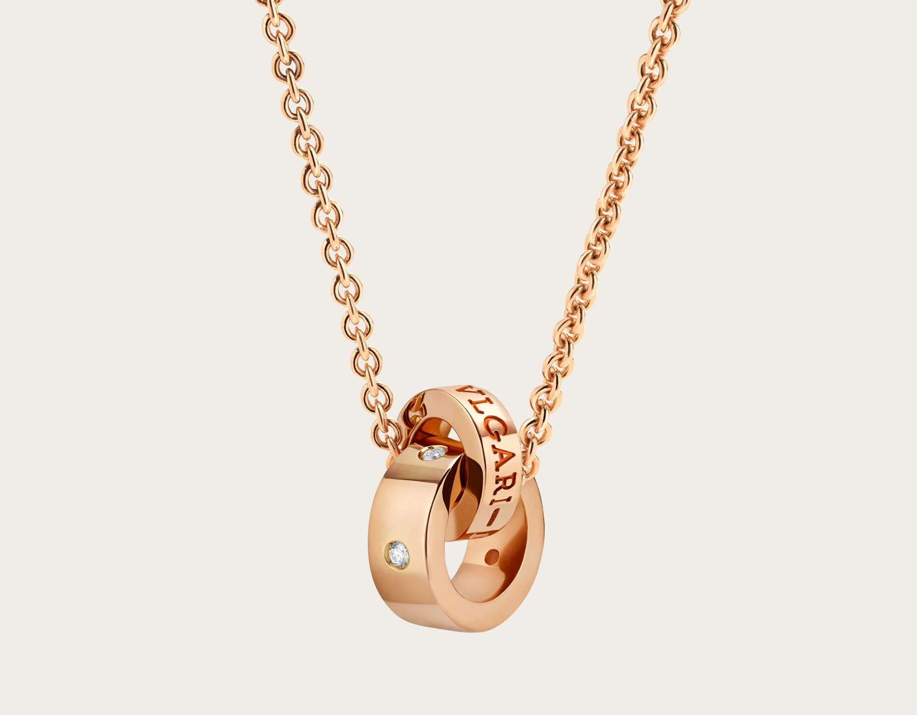 We customized this bvlgari bvlgari necklace with kt rose gold