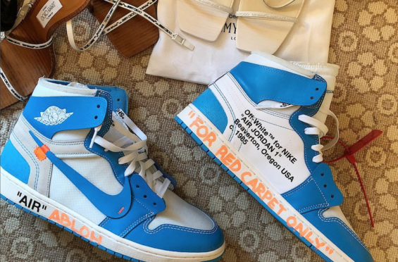 Powder The Abloh Jordan Off White 1 Unveils X Blueunc Air Virgil 8vnm0wN