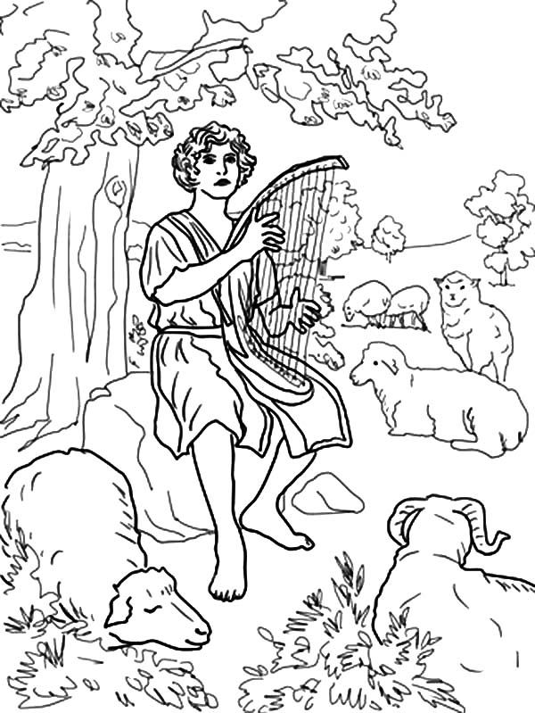 Bible For Children David The Shepherd Boy Coloring Pages Coloring Pages For Boys Coloring Pages The Shepherd